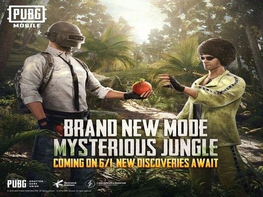 pubg mobile new mysterious jungle mode 32d0 1 on