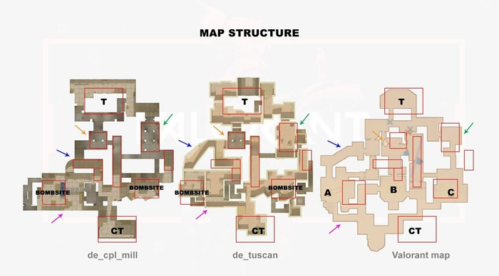 valorant and counter-strike maps