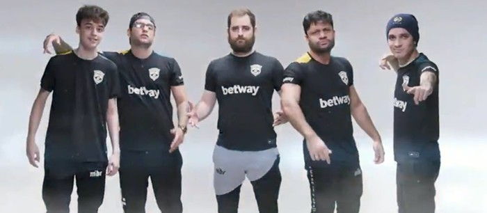 The MIBR roster before the changes.
