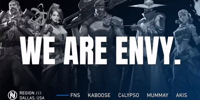 team envy reveal valorant roster with fns and together we are terrific 800x400 1 on