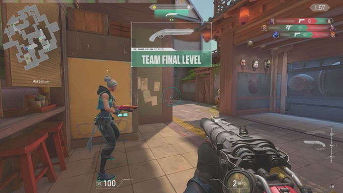 A screengrab from valorant escalation game mode