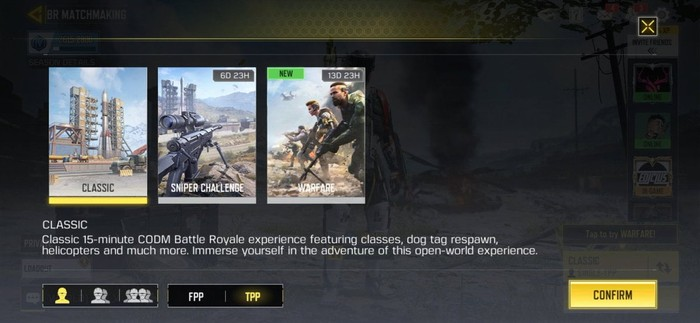 COD mobile Snipers only battle royale mode