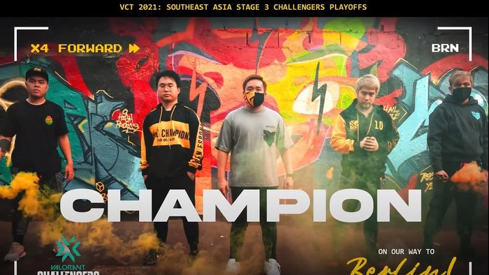 Bren Esports crowned as SEA Champions.